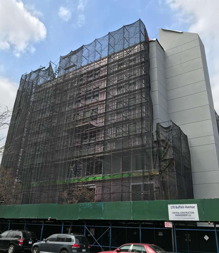 Buffalo Avenue Building construction side view