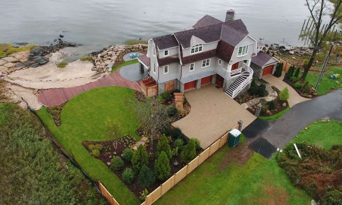 Rowen Costal Residence finished aerial rear view