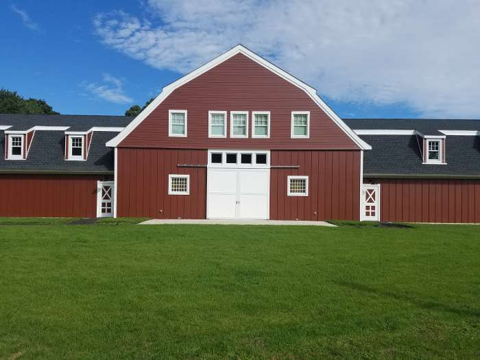 Mitchell College Red Barn finished front view