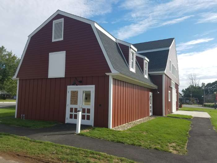 Mitchell College Red Barn finished exterior left side