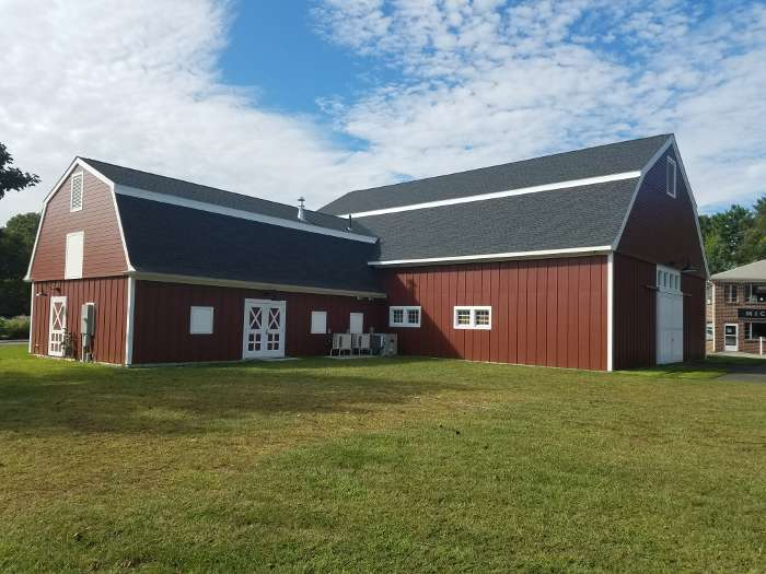 Mitchell College Red Barn finished exterior left view