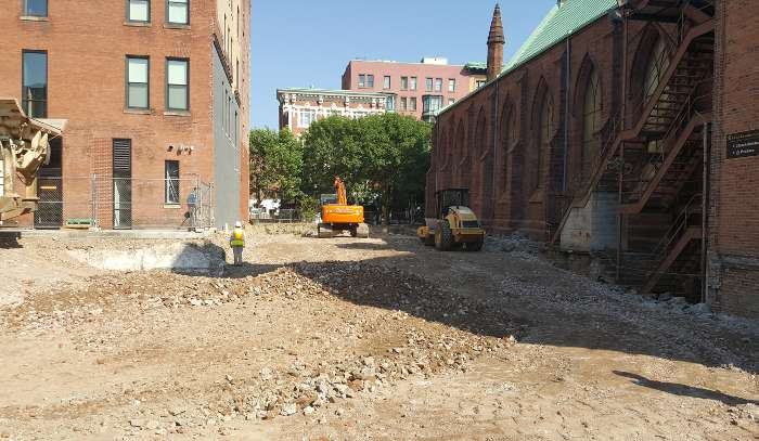 The Pavilion Grace Episcopal Church construction zone view