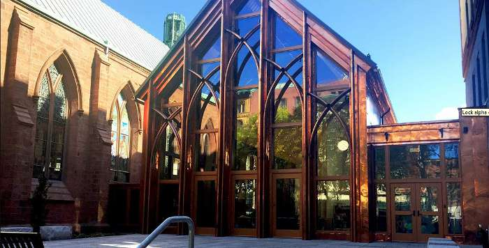The Pavilion Grace Episcopal Church finished exterior front view